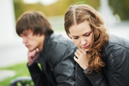 """ALT=""""Young adult in conflict - from the effects of divorce on children in their adulthood."""""""